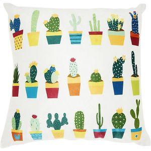 Nourison Trendy Hip New Age Velvet Succulents Multicolor Throw Pillow 18 X 18 Target