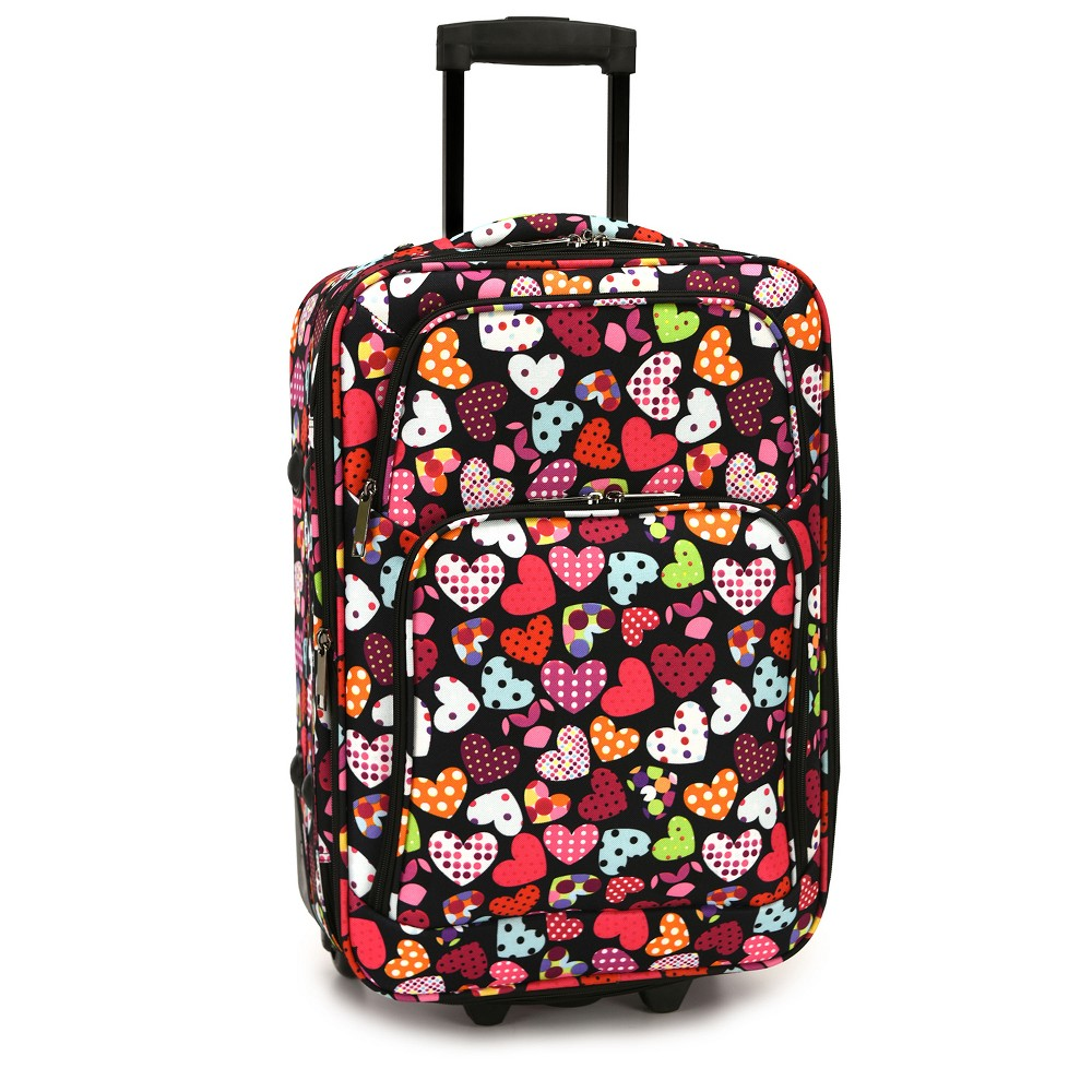 Elite 20 Carry On Rolling Suitcase - Love Hearts, Multi-Colored