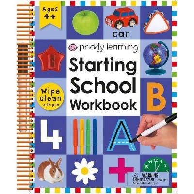 Wipe Clean: Starting School Workbook - by Various (Spiral) (Spiral Bound)