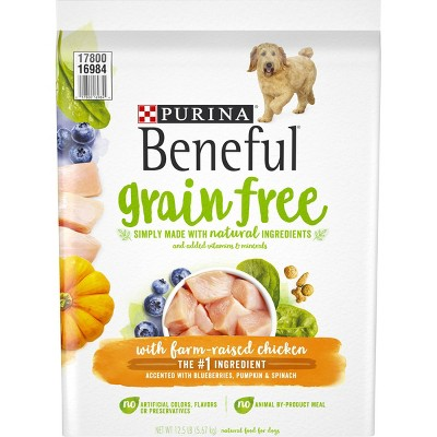 Purina Beneful Grain Free with Farm-Raised Chicken Dry Dog Food