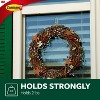 Command Medium Sized Outdoor Window Decorative Hooks with Strips Clear - image 3 of 4