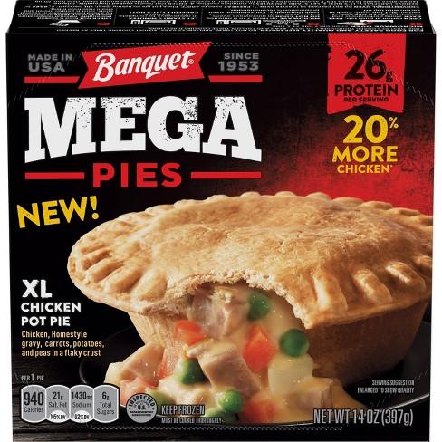 Banquet Frozen Mega Chicken Pot Pie - 14oz - image 1 of 3