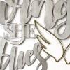 """17.25"""" X 16"""" """"With Brave Wings She Flies"""" Metal Word Art - image 2 of 4"""