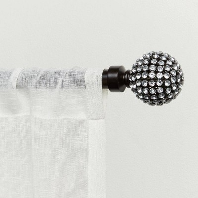 """36""""-72"""" Adjustable Anastasia Curtain Rod and Finial Set - Exclusive Home"""
