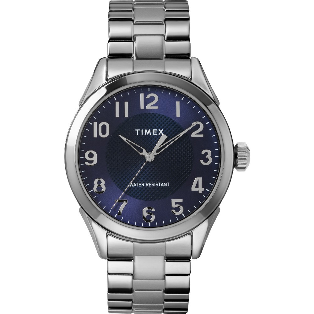Men's Timex Expansion Band Watch - Silver/Blue TW2T46100JT, Size: Large
