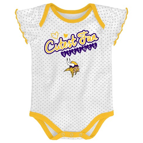 87c8b5533 NFL Minnesota Vikings Girls' Newest Fan 3pk Bodysuit Set : Target