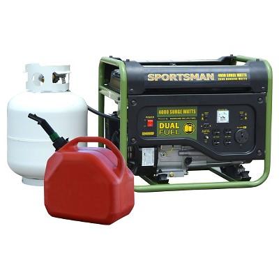 120 Volts, 4000 Watts Dual Fuel Generator - Black - Sportsman