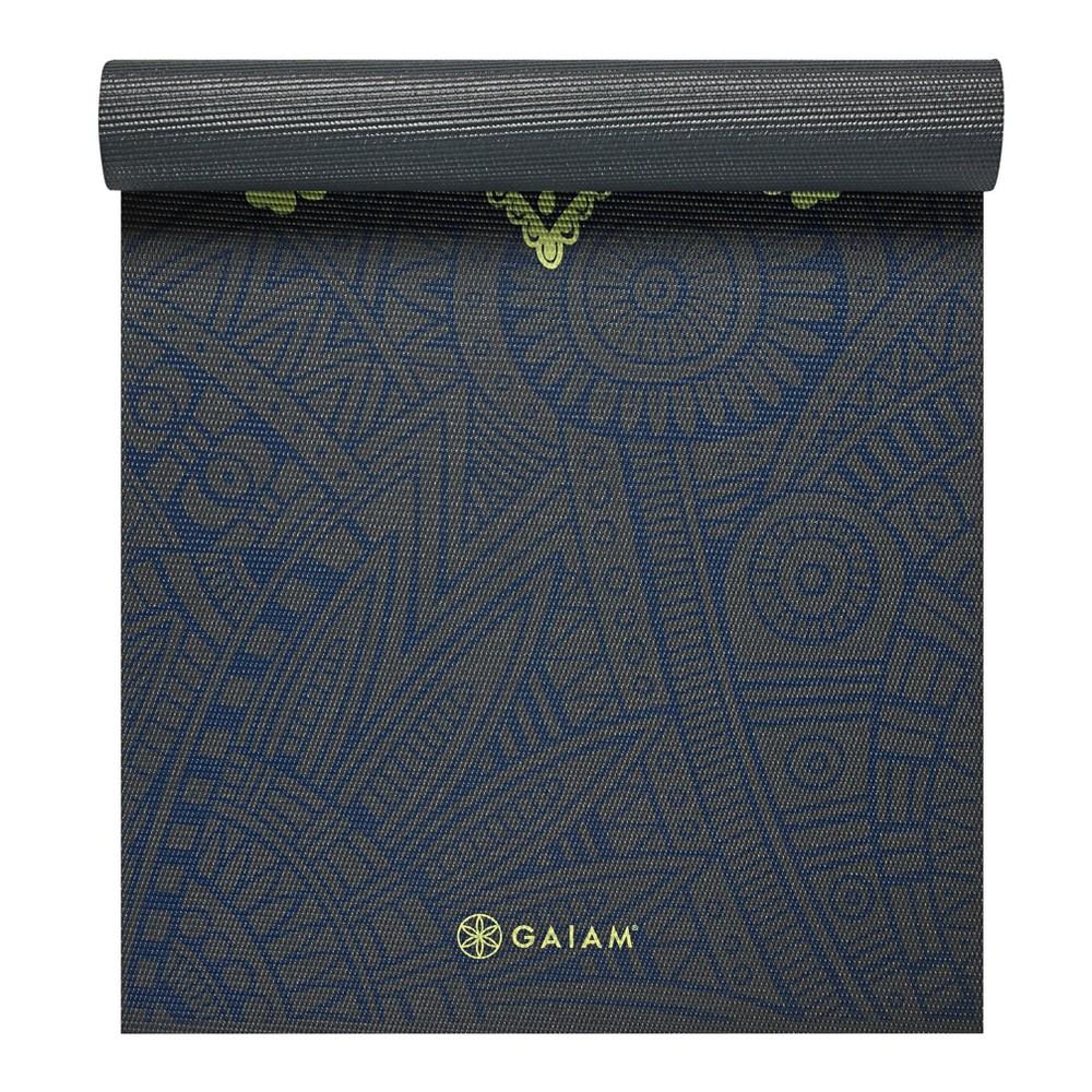 Gaiam Premium Blue Sundial Yoga Mat (6mm)