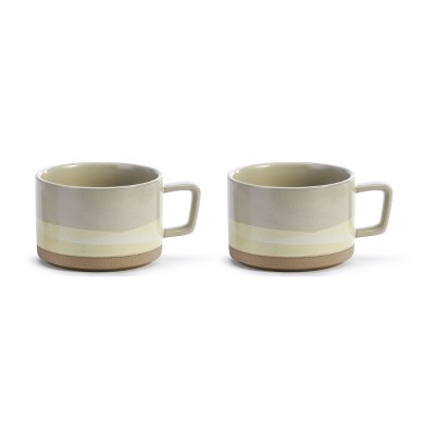 DEMDACO Explore New Horizons Soup Mug - Set of 2 White