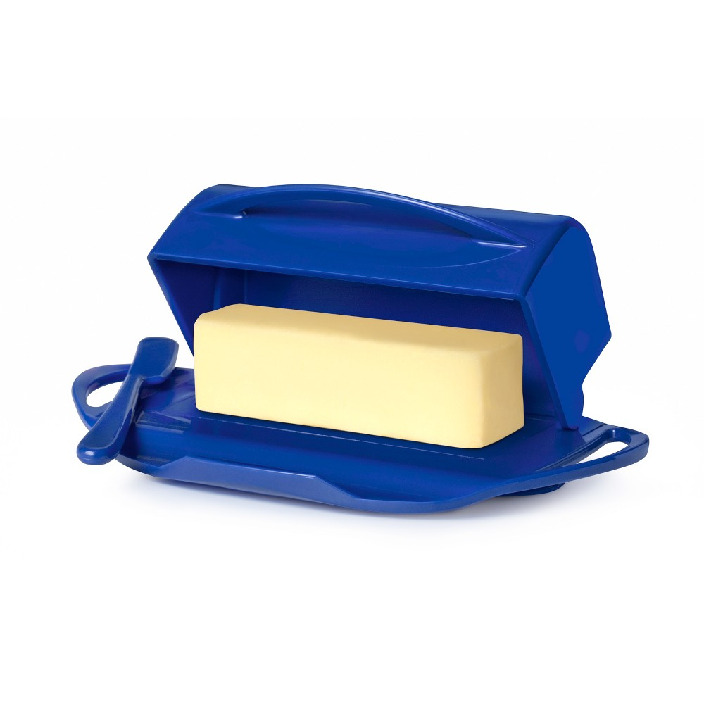 Image of 8oz Butter Dish Dark Blue - Butterie