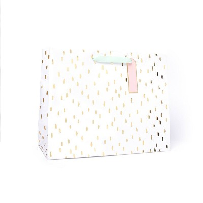 Large Dotted Gift Bag Gold - Spritz™