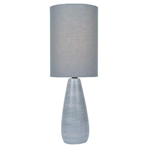"Quatro Table Lamp 17"" Brushed Gray (Includes Energy Efficient Light Bulb) - Lite Source - image 1 of 3"