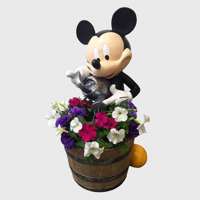 "Disney Mickey Mouse 14"" Garden Resin Planter Fountain"