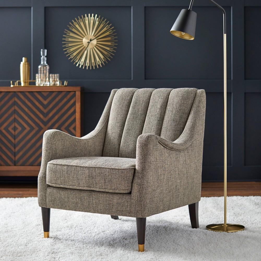 Image of Charisse Channelback Accent Chair Drak Gray - Lifestorey