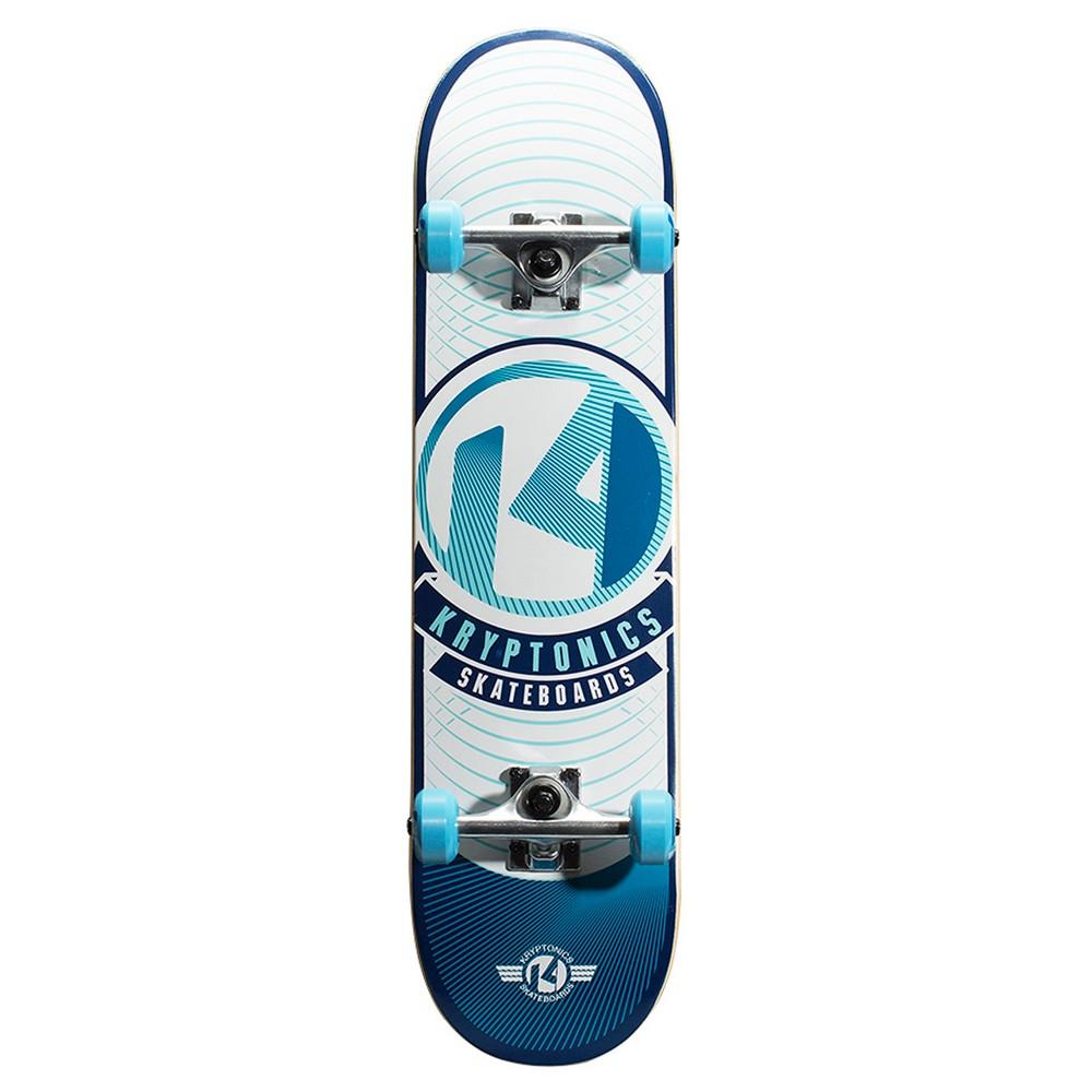 Kryptonics Pop Series Skateboard Sky Blue Rays