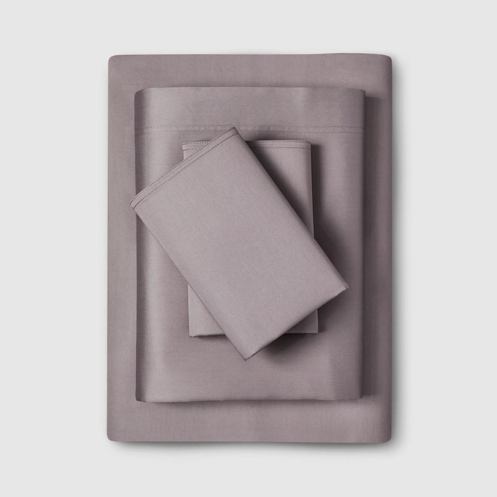 Full 300 Thread Count Modern Solid Sheet Set Pigeon Gray - Project 62 + Nate Berkus