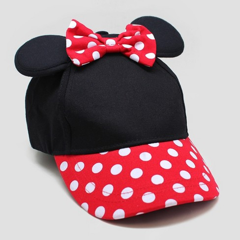 3a0d1a3e3 Toddler Girls' Minnie Mouse Baseball Hat - Black/Red One Size : Target