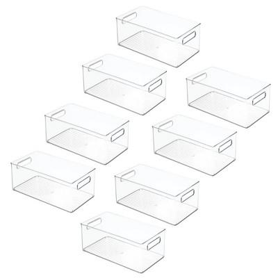mDesign Plastic Food Storage Organizer Bin, 8 Pack - Clear