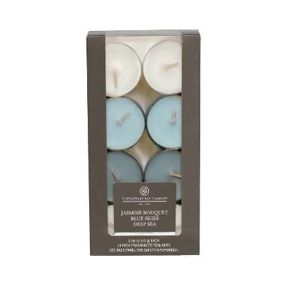 6.2  24ct Tealight Candle Jasmine/Blue Skies/Deep Sea - Chesapeake Bay Candle