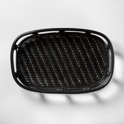 Handcrafted Rattan Tray - Black - Opalhouse™