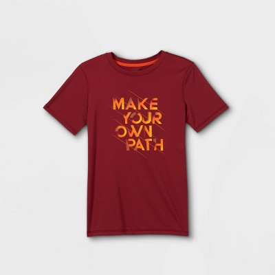 Boys' Short Sleeve 'Make Your Own Path' Graphic T-Shirt - All in Motion™ Red
