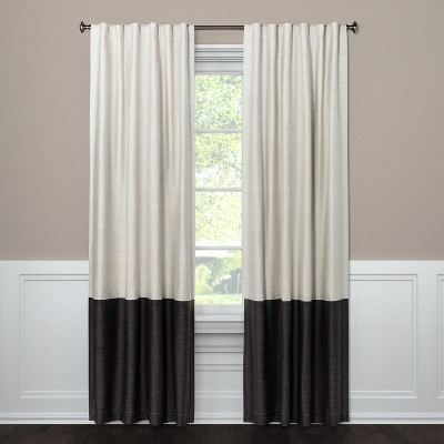 "84""x50"" Blackout Color Block Curtain Panel Dark Gray - Project 62™"