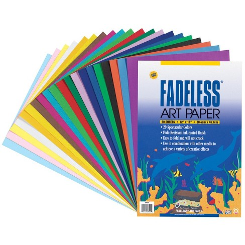 Fadeless Art Paper, 50 lb., 12 x 18 Inches, Multiple Colors, 60 Sheets - image 1 of 1