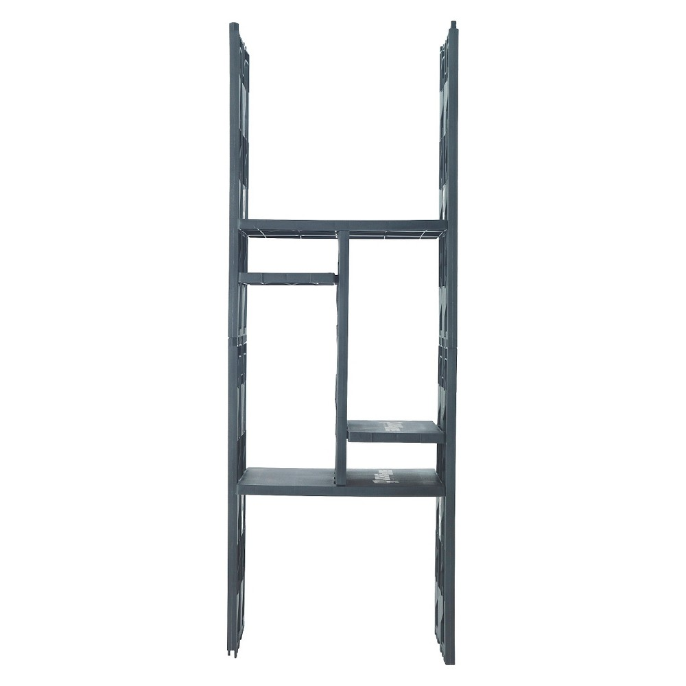 Lockerbones - 12 Locker Shelving Unit - Black