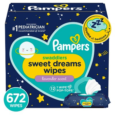Pampers Sweet Dreams Sensitive Baby Wipes 12X FTMT - 672ct