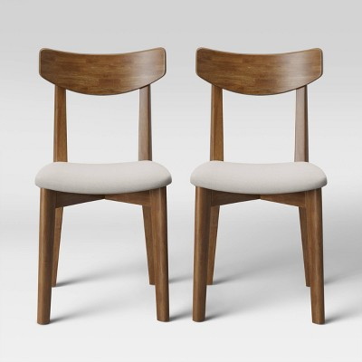 Set of 2 Astrid Mid Century Dining Chair Brown/Beige - Project 62™