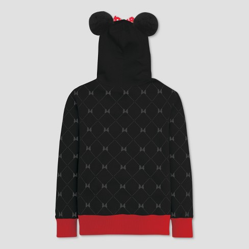 29defec94 Girls  Disney Minnie Mouse Costume Zip-Up Hoodie - Black   Target