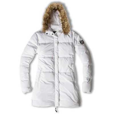 Chamonix Blanche Puffy Long Jacket Womens
