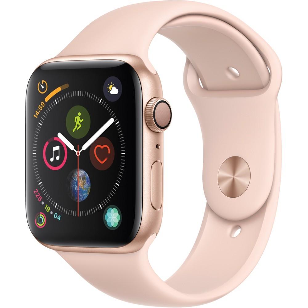 Apple Watch Series 4 Gps 44mm Gold Aluminum Case with Sport Band - Pink Sand, Pink Sand Sport Band