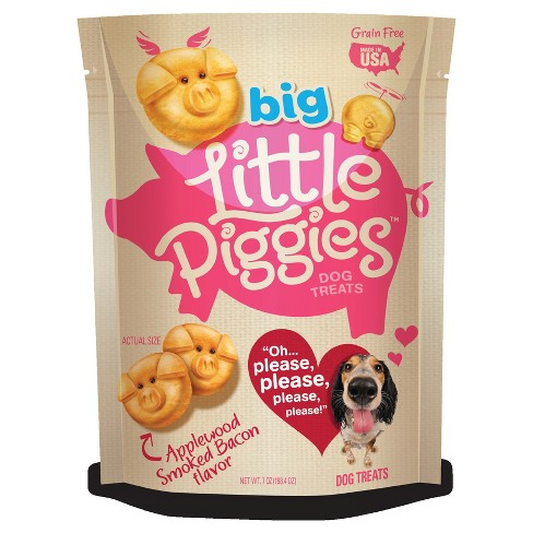 Big Little Piggies™ Grain-Free Natural Applewood Bacon Flavor Dog Treats - 7oz - image 1 of 3