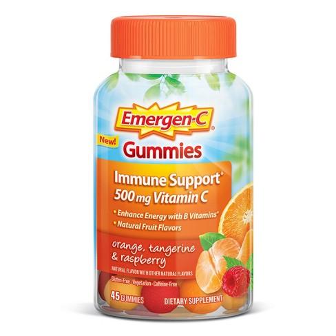 Emergen-C Immune Support Gummies - Orange, Tangerine & Raspberry - 45ct - image 1 of 4