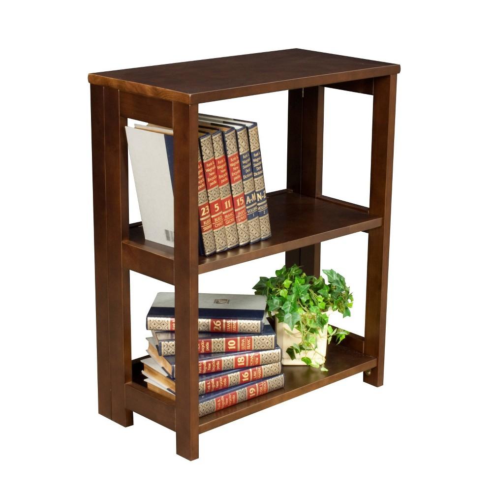 28 Cakewalk Folding Bookcase Mocha Walnut - Regency