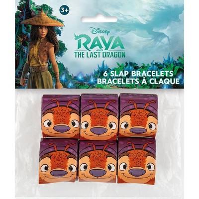 Raya and the Last Dragon 6ct Slap Bracelets Party Favors
