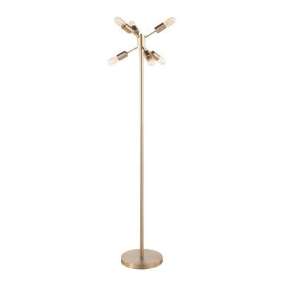 "62"" Spark Floor Lamp Antique Brass - LumiSource"