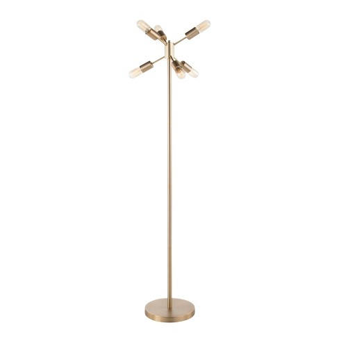 Spark Contemporary Floor Lamp Antique Brass  - LumiSource - image 1 of 4