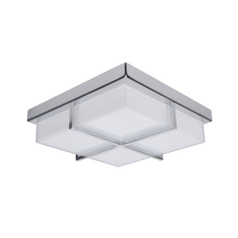 Artcraft Lighting Ac7490 Tranquility Single Light 10 Wide Integrated Led Flush Mount Square Ceiling Fixture