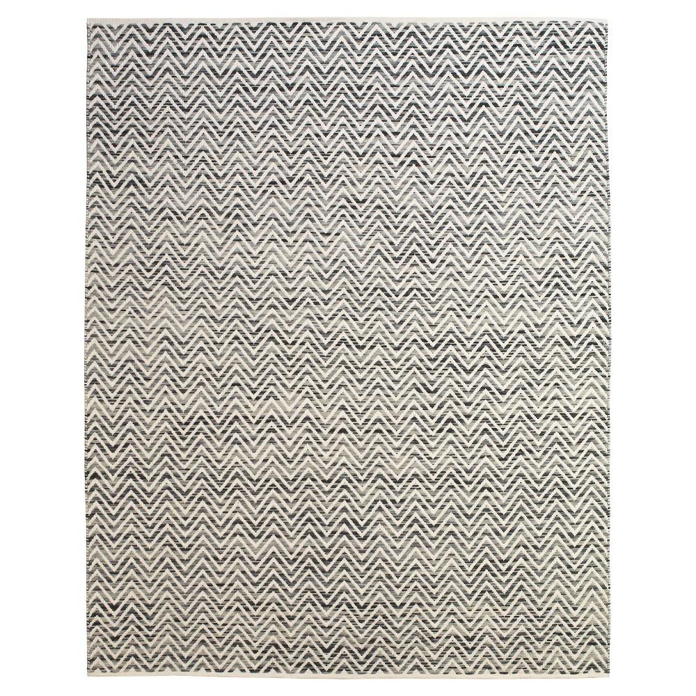 8'X11' Chevron Woven Area Rugs Dark Blue/Gray - Room Envy