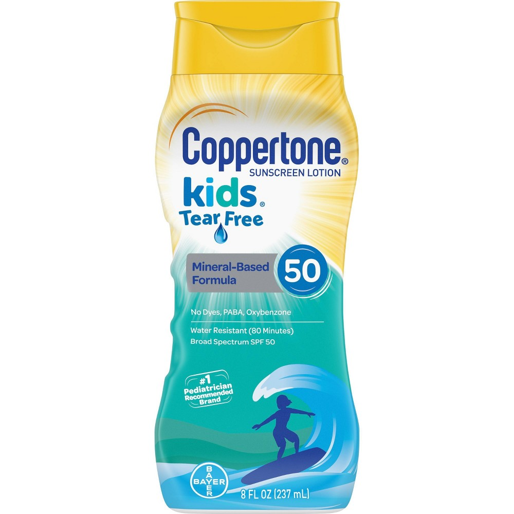 Image of Coppertone Kids Tear Free Mineral Sunscreen Lotion - SPF 50 - 8oz