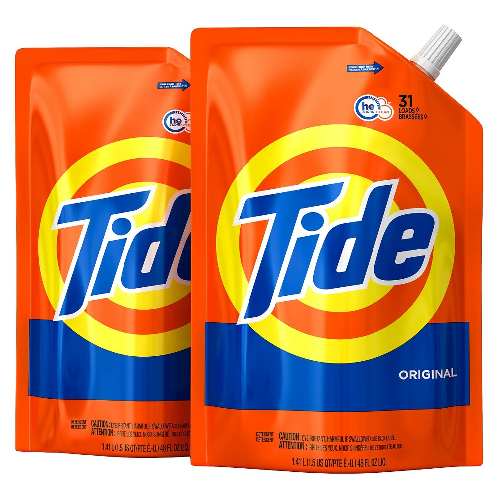 Tide Original Liquid Laundry Detergent - 48 fl oz 2pk