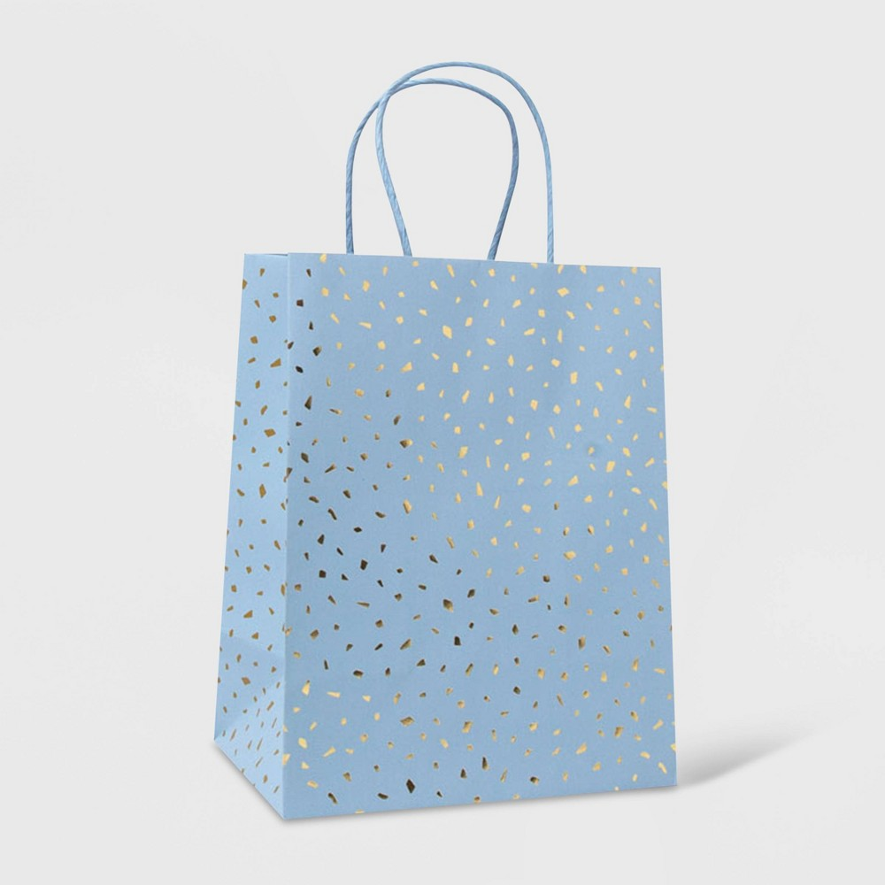 Small Bag With Scattered Foil Gold Blue Spritz 8482