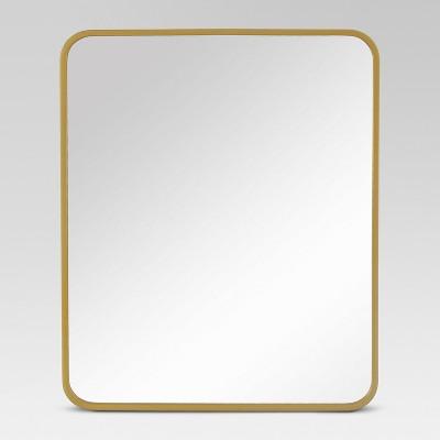 Decorative Rectangular Wall Mirror Brass - Project 62™
