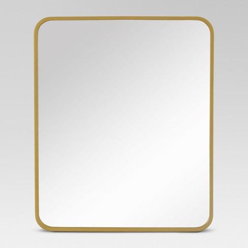 24 X20 Decorative Rectangular Wall Mirror Brass Project 62