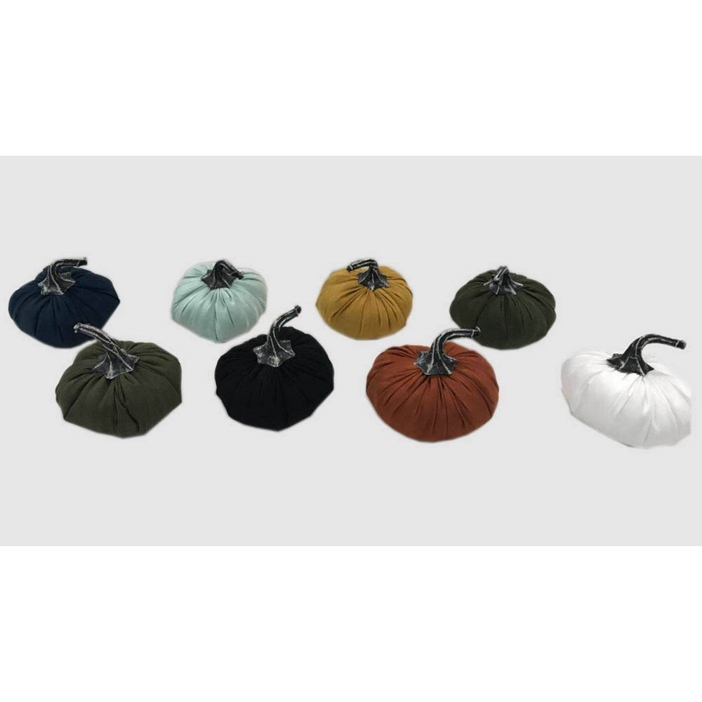8pc Mini Suede Pumpkins - Bullseye's Playground was $8.0 now $4.0 (50.0% off)