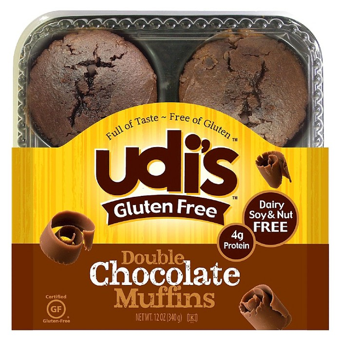Udi's Gluten Free Double Chocolate Frozen Muffins - 12oz - 4ct - image 1 of 1