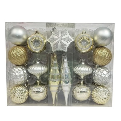 40ct Ornament Set Silver/Gold - Wondershop™
