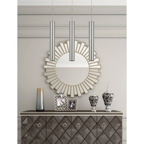 Melini LED Dimmable Metal Pendant Fixture Brushed Steel - Cal Lighting - image 1 of 1